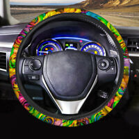 """15"""" Flower Rose Pattern Car Steering Wheel Cover for Women Fashion Auto Interior"""