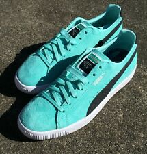 Puma Diamond Supply Co Clyde Basket Black Grey White 9 Suede Blue Green