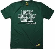 SWPS I Really Regret That Workout Said No One Dry Fit Sports T-SHIRT