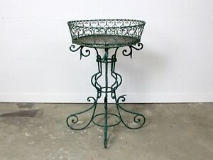 Early 20th Century French Green Painted Wrought Iron Jardiniere