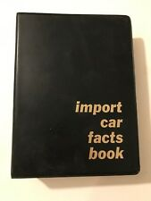 1964 IMPORT CAR FACTS BOOK - RARE FORD DEALER ONLY ITEM - EXCELLENT & AMAZING