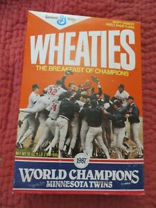 1987 Minnesota Twins World Series Champions Wheaties Cereal Box Unopened