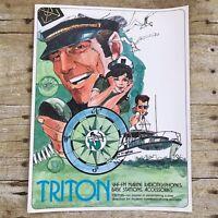 Vintage Dealer Sales Brochure Triton Marine Electronics Radios Boating 1973