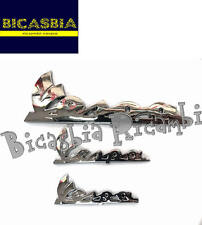 8981 - KIT 3 TARGHETTA ANTERIORE + COFANO VESPA 125 150 200 PX FRENO A DISCO
