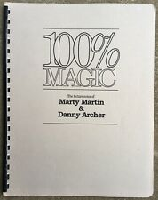 Signed 100% Magic Lecture Notes Of Marty Martin & Danny Archer