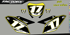Suzuki RM 125-250 01-12 Pre Printed Number plate Backgrounds Accel SERIES