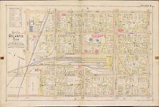 1896 NEW JERSEY ATLANTIC CITY GAS & WATER CO. MEDITERRANEAN-PACIFIC AV ATLAS MAP