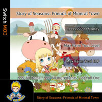 Story of Seasons: Friends of Mineral Town (Switch Mod)-Money/Items/Ingredients