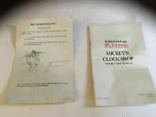 Mr. Christmas Mickey Mouse Clock Shop Instruction Manual Book Inserts PART