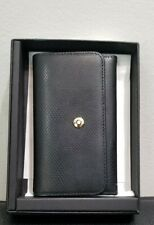 Montblanc Small Leather Black with Red Interior Key Case Rare In Excellent Con.