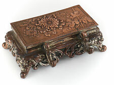Continental Duel Silverplate Inkwell w/ Pen Wipe & Pen holder, c1940 Floral