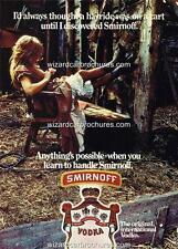 "1977 SMIRNOFF VODKA AUSTRALIA A3 POSTER AD ADVERT ADVERTISEMENT ""HAYRIDE"""