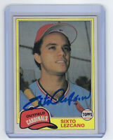 1981 CARDINALS Sixto Lezcano signed card Topps Traded #793 AUTO Autographed