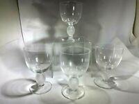 Superb Lalique  Elegant  Langeais Pattern  Four Wine  Glasses France