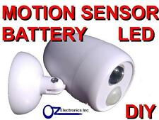 2 x DIY MOTION ACTIVATED SENSOR LED lights with battery and mounting screws kit
