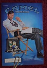 2004 Print Ad Camel Turkish Blends Cigarettes ~ Man in Director's Chair Art