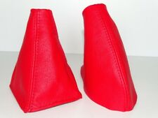 Gear & Handbrake Gaiter For MG MGF 1995-2000 Red Leather