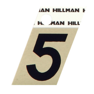 The Hillman Group 480484 1-1/2-Inch Black and Gold Aluminum Angle Cut House,