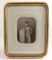 Papier salé Eugenio Figoli des Geneys par F. PONCY à GENÈVE 15 x 11 cm Vers 1855