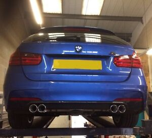 BMW F30/F31 QUAD EXHAUST SYSTEM.330D,2014 3 SERIES STAINLESS STEEL EXHAUST SYS.