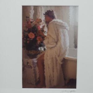 John Galbo Signed Impressionistic Erotic Photography Print w/ Frame
