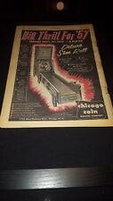 Chicago Coin Deluxe Ski Roll 1957 Rare Original Promo Poster Ad Framed! #2