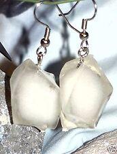 Ohrringe Weiß Eis Essen Acryl Edelstahl Damen Ohrschmuck Modeschmuck Ohrhänger