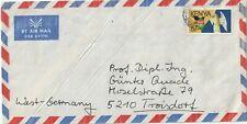 1987 Kenyaoversize cover from Nairobi to Troisdorf Germany