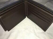 Coach Men's Heritage Stripe Passcase ID Wallet Khaki Brown  F74513