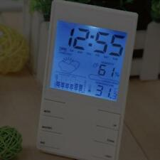 LCD Precision Electronic Hygrometer ABS Material Multifunctional White HTC-2S