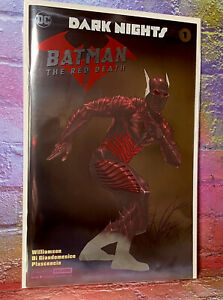 DC Comics Dark Nights: RED Death #1 NYCC Exclusive Silver Foil Variant Cover NM