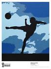 World Cup Brazil Art soccer 2014 Poster Print Vik Muniz The Football Player RARE
