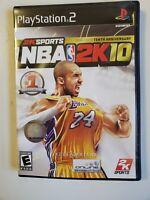 NBA 2K10 (Sony PlayStation 2 PS2, 2009) PS2 KOBE BRYANT Rare Free Shipping