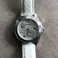 Invicta Women's Model #12401 Crytal Heart Accent Dial & White Leather Dial B-C