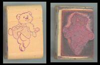 Rubber Stamp Block - Inkity Plinkity - Bear in a Dress C-4