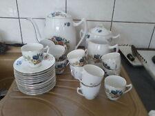 Service à café en porcelaine 12 tasses cafetiere sucrier pot à lait