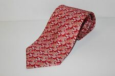 SALVATORE FERRAGAMO Tie, New With Tags, Silk, Red With Ballons