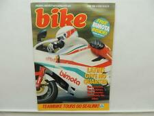 June 1986 BIKE Magazine Kawasaki KMX125 Moto Guzzi Honda L9270