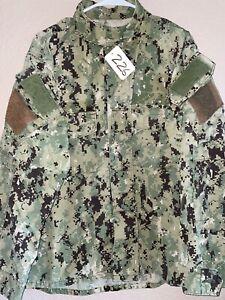 USN AOR2 Woodland Digital NWU Type III Ripstop Shirt Medium Regular Used 9_226