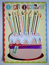 "PAPER MAGIC ~ GLITTERY ""HAPPY BIRTHDAY"" ""FOR YOU"" GREETING CARD + ENVELOPE"