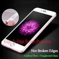 NEW! WHITE Full Cover 3D Curved Tempered Glass Screen Protector For iPhone 7