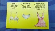 Risque Bamforth Comic Postcard 1970s BRA - PANTIES - NIGHTIE Theme No 145