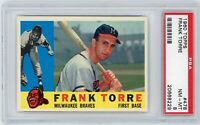 1960 Topps #478 Frank Torre BRAVES - PSA 8 NM/MT