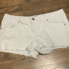 Mudd Shorts Size 13 Cut Offs White Wash