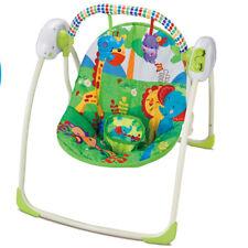 Dondolo per Neonati Elettrico Fitch Baby Musicale 3 Velocita Timer e Arco Giochi