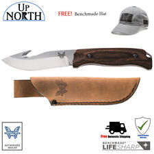 Benchmade HUNT 15003-2 Fixed Saddle Mountain Skinner Knife w/Hook FREE HAT