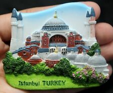 Istanbul Turkey Hagia Sophia Church 3D Fridge Magnet Holiday Souvenir Collection