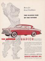 """1956 Sunbeam Rapier Coupe de Sport art """"A Future Classic"""" vintage promo print ad"""