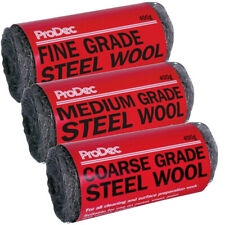 More details for prodec steel wool wire abrasive metal prep decorating coarse medium fine (ww)