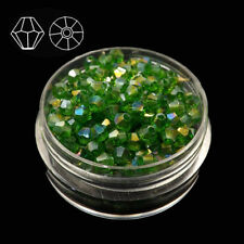 #5301 Fashion DIY jewelry 4mm Glass Crystal Bicone bead 500pcs Grass green AB